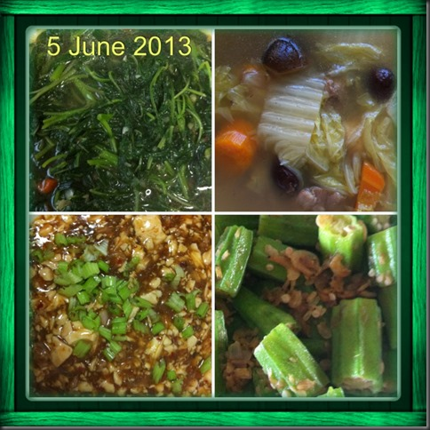What I cooked today (家常便饭系列)- 5-6-2013