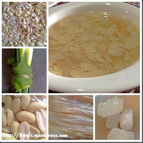 Easy Peasy Barley Bean Curd Sheets Sweet Soup (腐竹薏米甜汤)