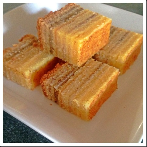 One Number Ratio Baking Adventures - Layered Pound Cake ………