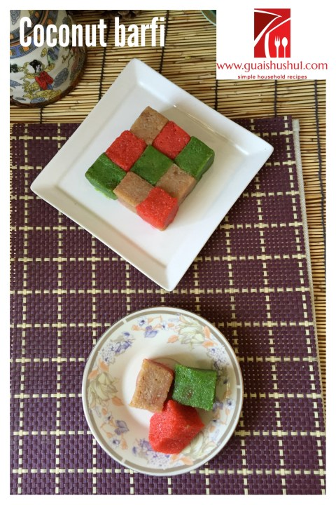 Happy Diwali 2013–Indian Coconut Candy–Coconut Barfi