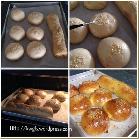 Two Types of Asian Soft Buns For Your Breakfast–Roast Pork Buns and Kimchee Buns