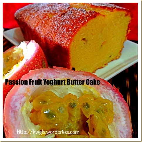 Simple and Easy Bake–Passion Fruit Yoghurt Butter Cake