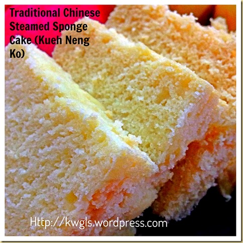 How About A Passion Fruit/Peach Flavoured Chinese Steamed Sponge Cake or Kueh Neng Ko