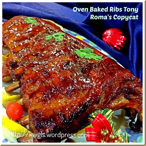 Having Oven Baked Ribs for Christmas Dinner? Tony Roma's BBQ Baby Ribs Copycat