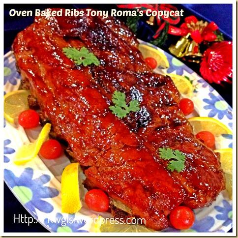 Having Oven Baked Ribs for Christmas Dinner? Tony Roma's BBQ Baby Ribs Copycat