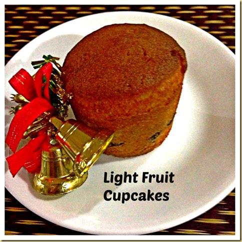 Simple Light Rummy Fruit Cupcakes…