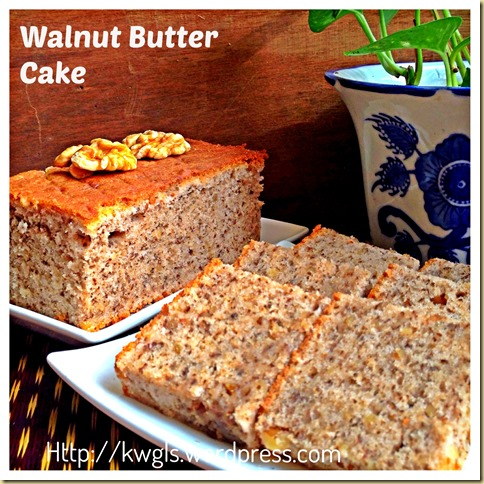 Nothing To Shout About–A Simple Walnut Butter Cake