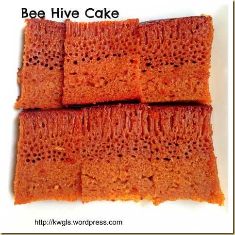 My Childhood Cake–Bee Hive Cake/Malaysian Honey Comb Cake or Kueh Sarang Semut (蜂巢蛋糕)