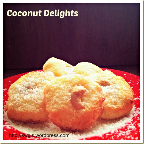 A Good Party Snack To Try… Coconut Delights