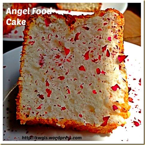 Too Much Egg Whites Left? Try Rose Angel Food Cake