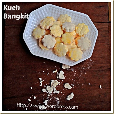 My Kueh/Kuih Bangkit Broken Into Pieces When It Dropped On My Floor.. Traditional Kueh Bangkit