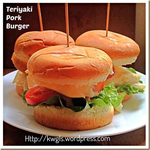 Easy Peasy Asian Heart Attack Burger–Teriyaki Pork Burger