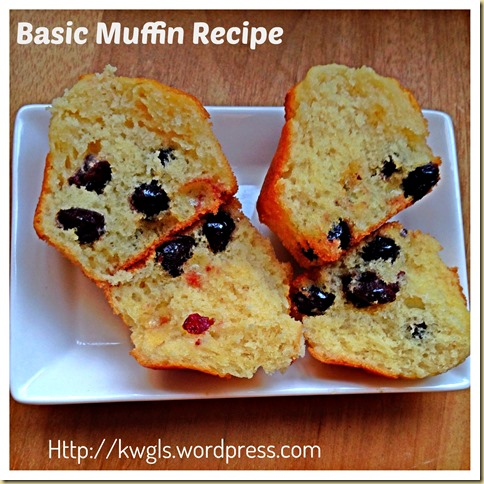 EASY PEASY BASIC MUFFIN RECIPE