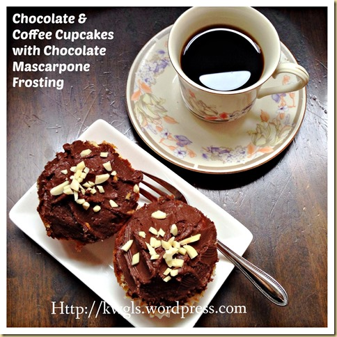An Eastern Europe Traditional Cupcake–Chocolate and Coffee Cupcake - prajitura cu crema de ciocolata si cafea