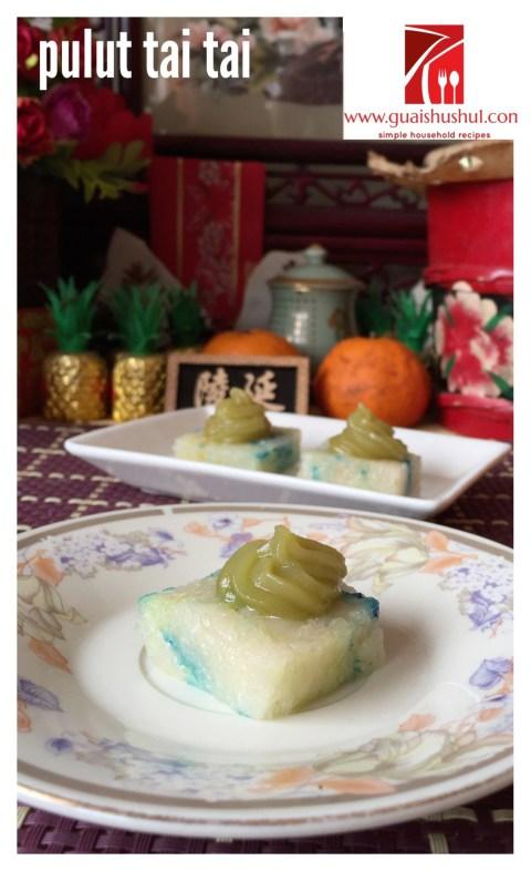 Simple Yet Elegant Nonya Kuih–Kuih Pulut Tai Tai, Pulut Tekan, Pulut Tatal (娘惹兰花加椰糕)