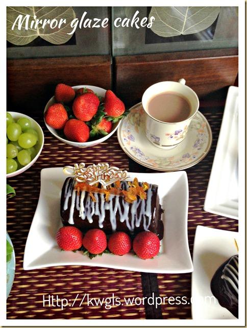 Chocolate Mirror Glaze Recipe (镜面巧克力蛋糕装饰)
