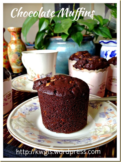 Simple Moist Chocolate Muffin (简易巧克力小松糕)