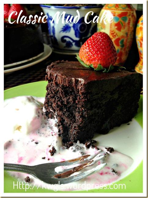 Rich And Dense Sinful Indulgence–Classic Chocolate Mud Cake (巧克力泥浆蛋糕)