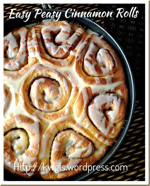 Easy Peasy Cinnamon Rolls (简易肉桂面包卷)