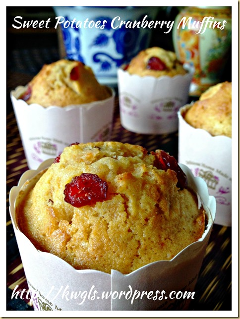 Sweet Potatoes Cranberry Muffins (蔓梅地瓜小松饼)