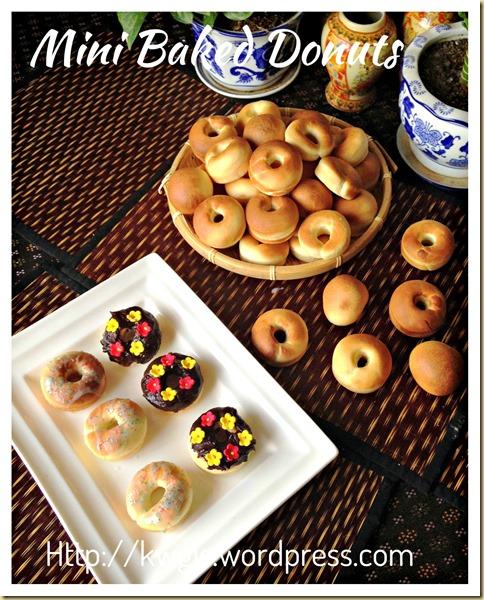 Baked Is Healthier…  Isn't It?  Mini Baked Donuts (迷你甜甜圈-烘烤版本)