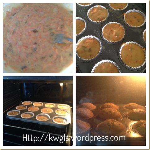 Carrot Raisin Muffins (红萝卜葡萄干小松饼)