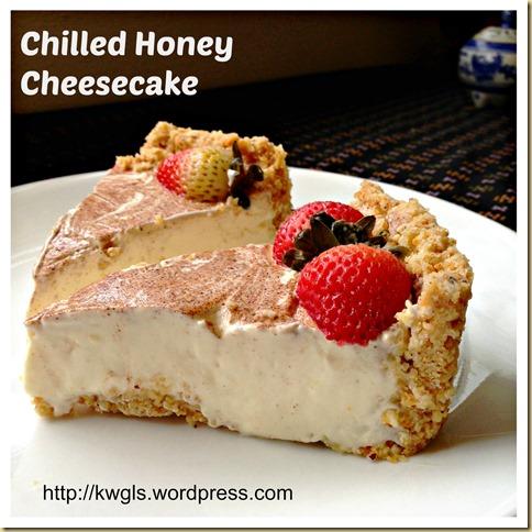 Chilled Honey Cheesecake (免烤蜜糖芝士蛋糕)