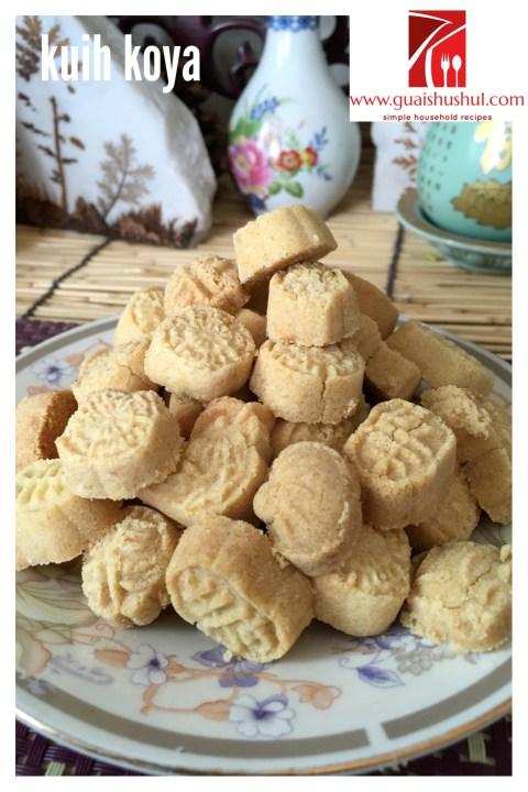 Mung Bean Cookies or Kuih Koya aka Putu Kacang (绿豆糕/绿豆饼)