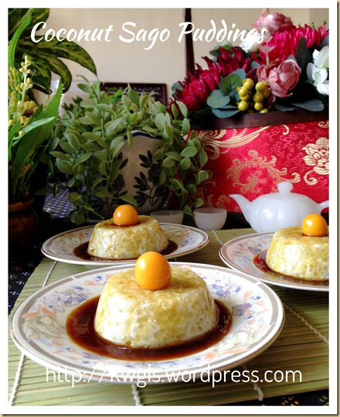 Coconut Sago Puddings (椰香西米布丁)