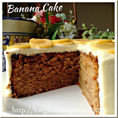 Banana Cake With Cream Cheese Frosting (香蕉蛋糕)
