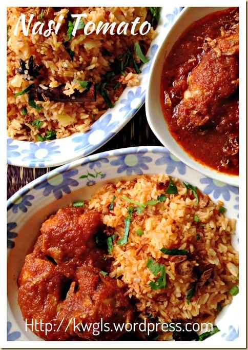 Nasi Tomato With Ayam Masak Merah (番茄饭)