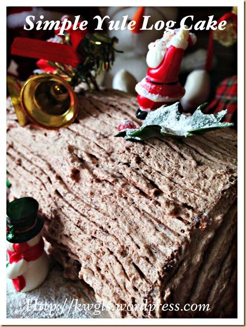 Preparing Your Own Log Cake? Chocolate Yule Log Cake With Coffee Cream (Bûche de Noël, 巧克力树桐蛋糕)