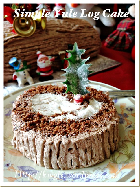 Preparing Your Own Log Cake? Chocolate Yule Log Cake With Coffee Cream (Bûche de Noël, 巧克力树桐蛋糕)