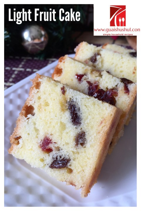 Light Fruit Cake (轻杂果蛋糕)