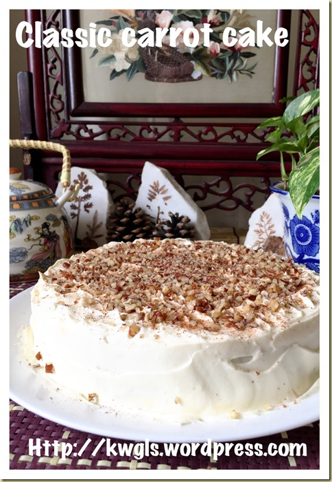 Classic Carrot Cake With Cream Cheese Frosting (红萝卜蛋糕)