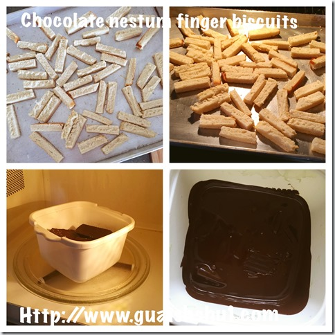 Chocolate Nestum Finger Biscuits (巧克力麦片手指饼干 Biskuit Jejari Nestum Coklat)