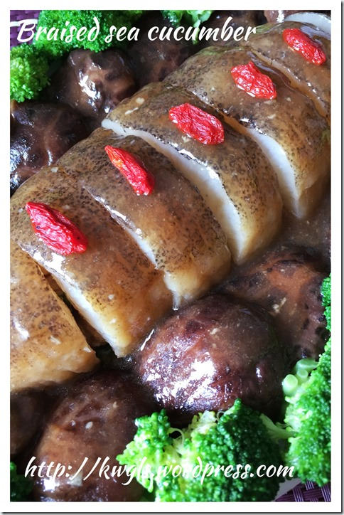 Braised Sea Cucumber With Minced Meat (海参酿肉)
