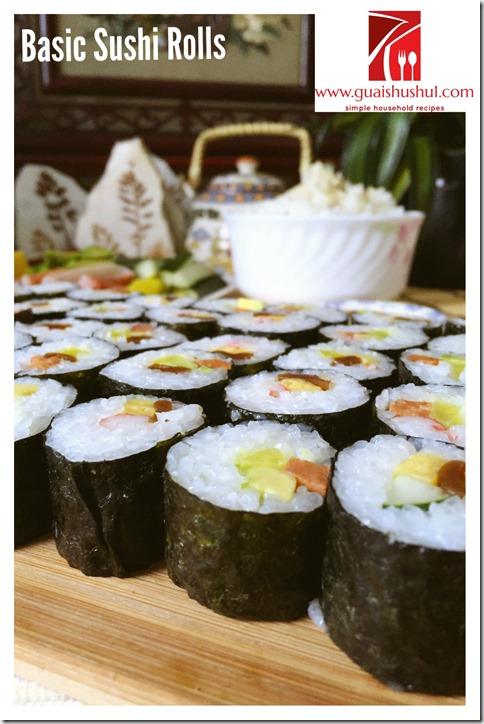 Basic Sushi Rolls 細巻き