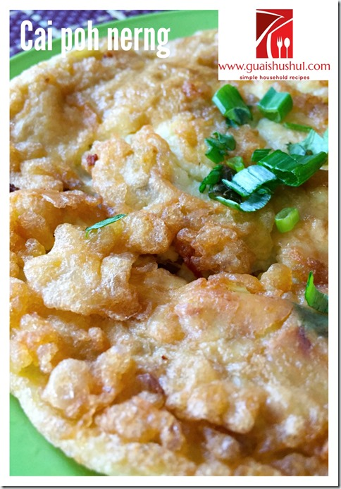 Preserved Radish Omelette aka Cai Poh Nerng (干煎菜脯蛋)