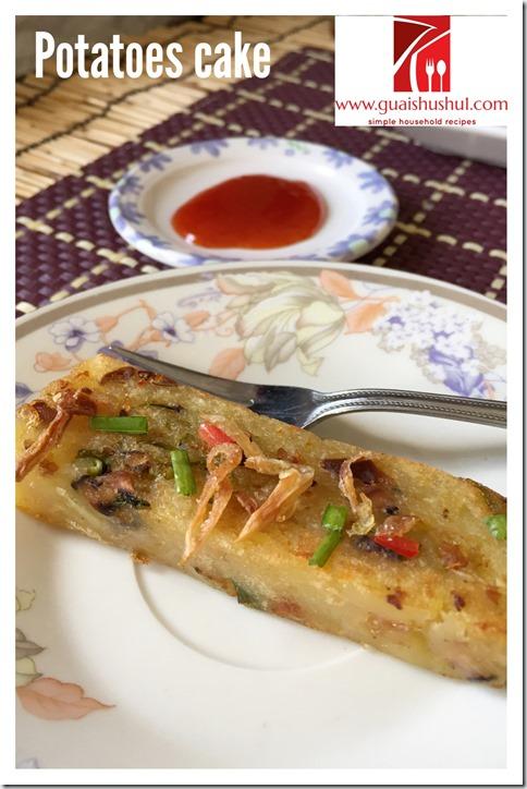 Teochew Traditional Potatoes Cake (潮汕甘筒粿, 土豆粿, 薯仔糕, 马铃薯粿)