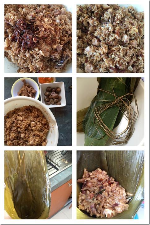 Taiwan Style Steamed Meat Dumpling With Garlic Sauce (台湾北部蒸肉粽)