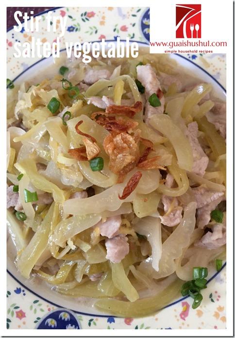 Salted Vegetable Meat Dish (咸菜炒肉末)