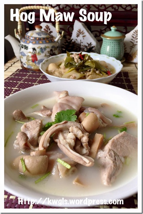 Chinese Peppery Hog Maw Soup (白胡椒猪肚汤)