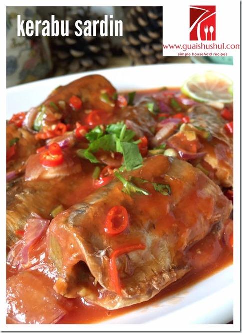 Canned Sardines Appetizer aka Kerabu Sardin (沙丁鱼开胃菜)