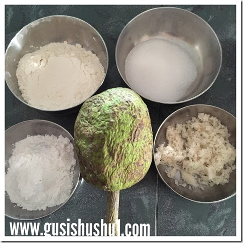Mashed Breadfruit Fritters (Jemput Sukun, Kodok Sukun, Cekodok Sukun 炸面包果球)