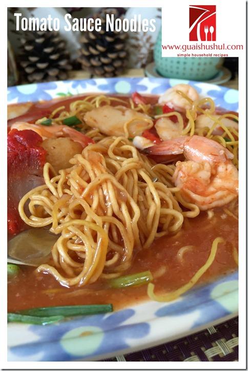 Sarawak Crispy Tomato Ketchup Noodles (砂朥越茄汁炒面)