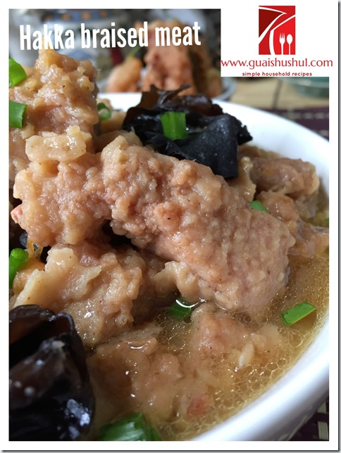 Hakka Nam Yu Fried Meat With Black Fungus (客家南乳炸肉 焖木耳)