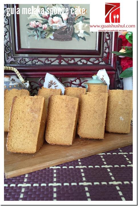 Gula Melaka Santan Sponge Cake (椰糖椰浆海绵蛋糕)