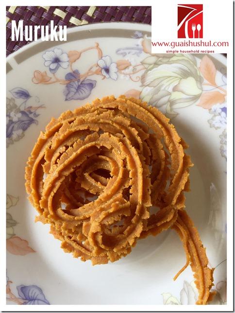 Indian Snack Recipe: Besan Murukku or Chakli (姆鲁古 கடலை மாவு முறுக்கு)