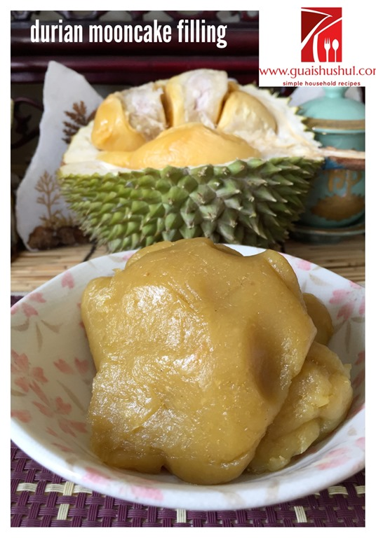 how to make mooncake durian paste